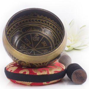 Cuenco Tibetano de diseño antiguo grabado